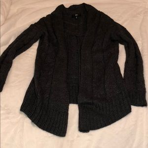 Sweaters - Charcoal grey, open-front cardigan, size Medium